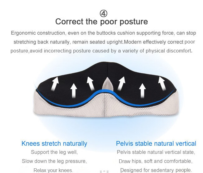 Coccyx Hemorrhoid Car Memory Foam Drivers Outdoor Seat Cushion For Office Bus