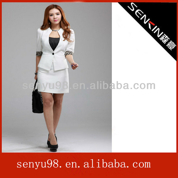 2013 Spring Korean fashion three-quarter sleeve office uniform, beauty clothing office lady suit