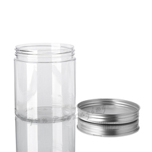 Skin Care Cosmetic containers 300g white clear round PET plastic cream jar