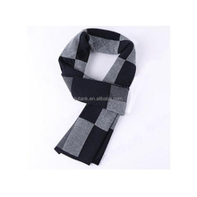 Mens Super Soft Winter Scarf Wool Blend Plaid Warm Scarves