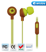 Ienjoy stylish ear pieces with super bass stereo headset earphone built in mic hands-free calling,3.5mm audio input