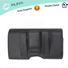 phone Premium Executive Leather Pouch Case With Belt Clip & Belt Loops