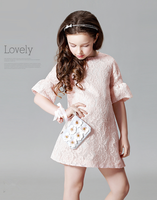 Elegant Europe style Children Latest Fashion One Piece Girls Party Dresses