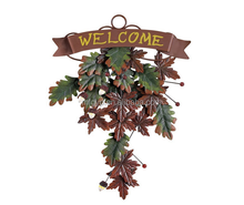 Falling Leaves Welcome Door Decor