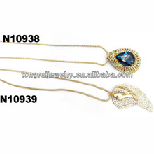 fake gold high end fashion jewelry necklace wholesale