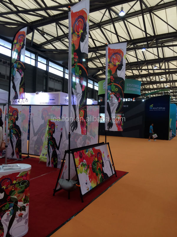 A-up display with flag advertising&exhibition equipment