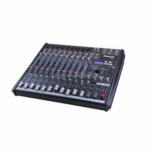 Q-1230 QCN brand 12 Channel karaoke digital sound mixing console USB Audio Mixer (8 Mono channel and 2 stereo channel)