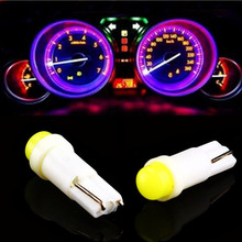 T5 1.2W car interior led light auto side wedge gauge dashboard lamp bulb 12V white blue red green yellow