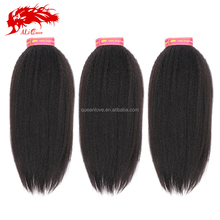 100% Unprocessed Curly Human Hair Extension Wholesale Light Yaki Hair