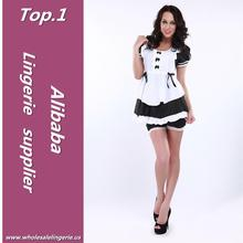 Elegent women latex french maid costume made in China