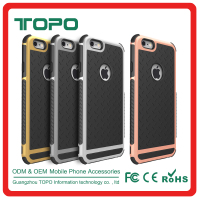 Wholesale PC hard frame and TPU soft anti skid phone case cover for iphone 6 6s plus