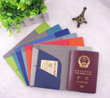 2017 New design PU passport cover or customized logo embossed passport holder
