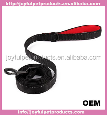 Hot sale factory price best high quality reflective flat nylon dog collars and leash