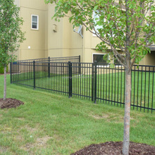 Prefab security steel fence panels and gates deign