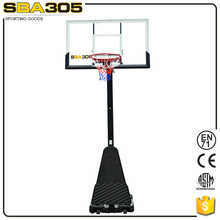 Sporting equipment movable basketball hoop stand