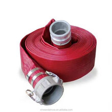 high pressure pvc lay flat hose pipe connected with pin lug couplings for water discharge