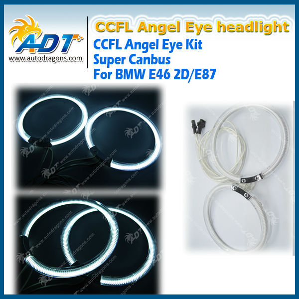 Angel Eye Halo Ring CCFL White For BMW E46 2D E87 12V 7000K New
