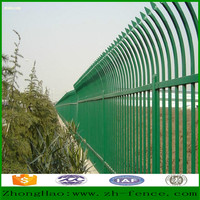 PVC coated tubaler Steel Fence wall yard fence wall and fence gate designing