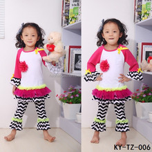 ruffled shirts and pants baby daily wear teen girls casual clothes sets