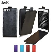 "J&R brand Leather Case For Xiaomi mi 6 5.15"" Flip Cover Open Up And Down Magnetic Phone Bags For Xiaomi 6 mi6 M6"