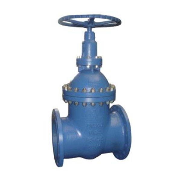 DIN3352 Non rising stem resilient seat flanged 6 inch gate valve