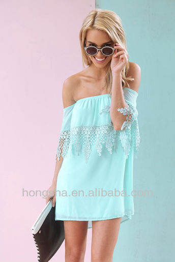2013 Ultra cute off the shoulder kaftan dress with embroidered HSD6011