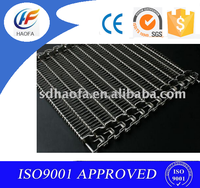 plain weave and freezing wire mesh belt for conveyor usage