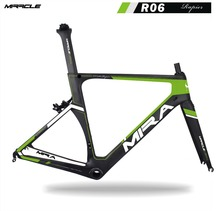 2017 Green painting miracle bike carbon road frame, fashion OEM areo BB86 racing carbon road bike/bicycle frame R06