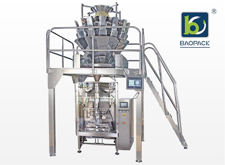 Pillow Bag Pouch Packaging Machine With Multi-head Weigher For Packing Rice
