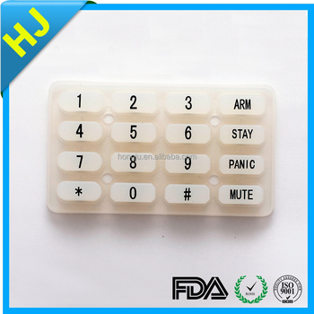 custom silicon rubber button keypad,rubber button