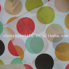 Hot selling Circle dot multicolour printed umbralla fabric/ Children tent