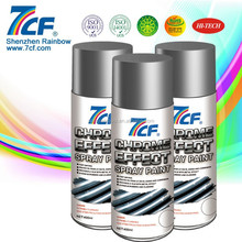 2015 High Quality Rainbow Brand 7CF Acrylic Fast Dry Chrome Spray Paint for Metal and Plastic