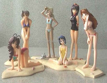 Japanese 3D Sexy Small One Piece Nude Girl Beach Cartoon Anime Figures