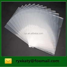 guangzhou factory clear L shape paper document holder plastic file folder