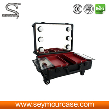 Beauty Case Trolley Lighting Makeup Case With Mirror