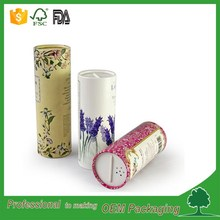 top paper tube spice packaging jar for salt with sifer cap shenzhen supplier round packaging tube FOOD GARDE