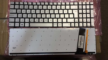 New Keyboard For ASUS N550LF N550J N550JA N550JK Silver No Frame Backlit TR