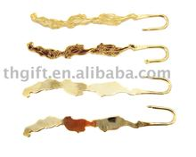 Fashion Metal Imitation Enamel Bookmarks With Gold Plating