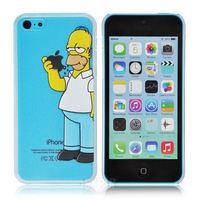 3D New arrival fashional Simpson pattern cover case for iphone 5C 5 c in stock