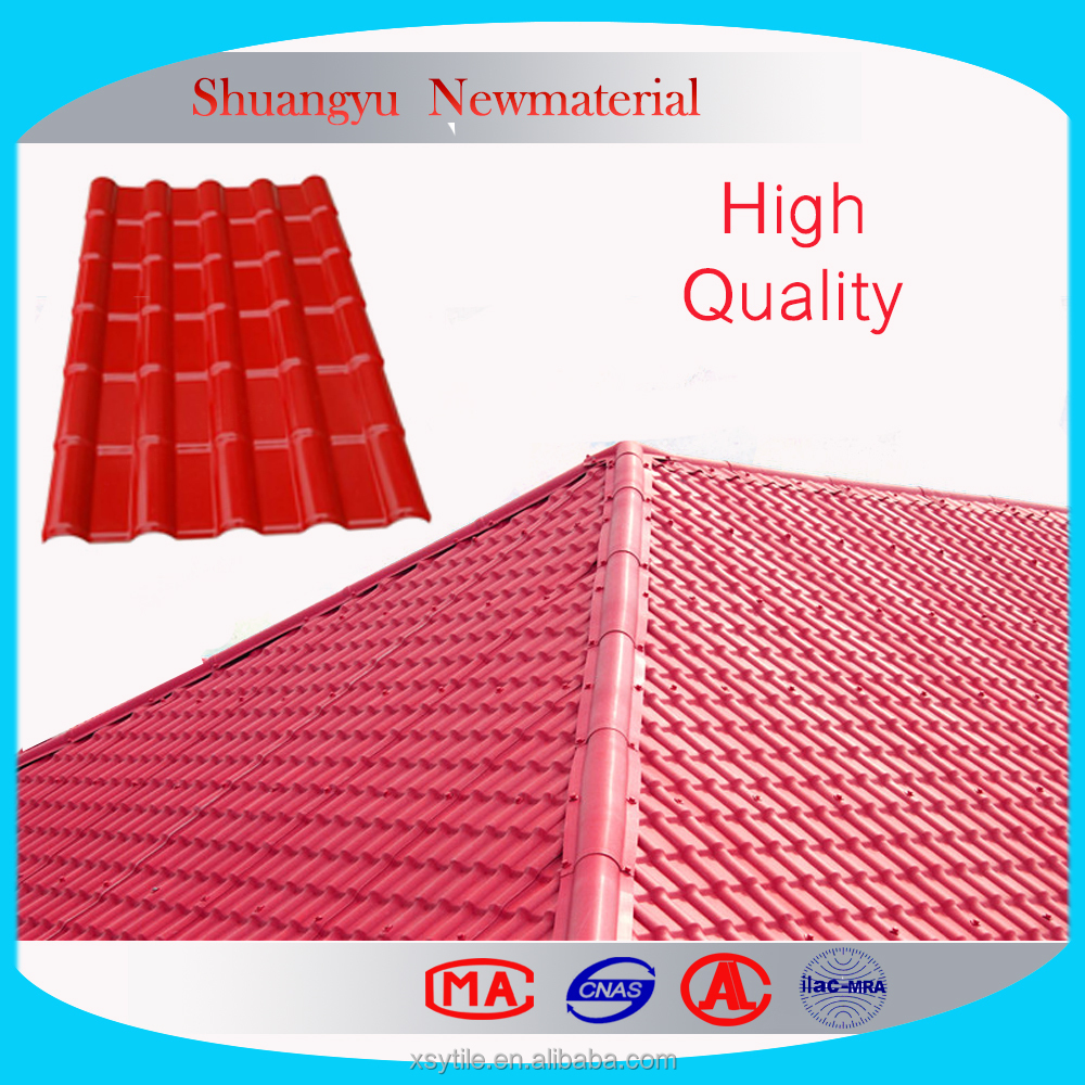 recycled plastic roofing plastic flat sheet roof /Resin Roof Tile