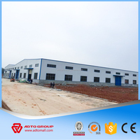 Hot Sale Sandwich Panel Buildings Low Cost Housing Solutions of Prefab Steel Warehouse Structure