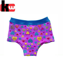 Lovely Pink Color Heart Print 1*1 Rib Baby Kids Panties Little Girls Underwear Models
