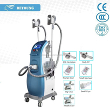 CR-68A Latest laser fat burning belly fat removal machine with 2 vacuum cryolipo fat freezing cryoprobes
