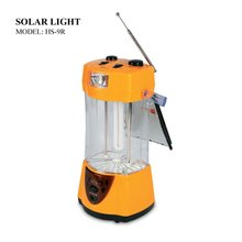 rechargeable portable solar lantern with FM radio