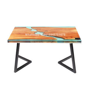 Dining tables countertops epoxy resin table solid wood crystal AB glue factory price