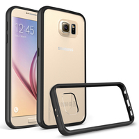 Premium Ultra Thin Clear Flexible Soft TPU Bumper+Acrylic Back Cover Mobile Phone Case for Samsung Galaxy S7 S7edge