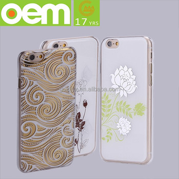 newest trend transparent tpu pc mobile phone case for iphone 6 ,pc case for cell phone
