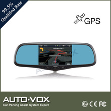5 inch FHD 1080P mirror special car rear view camera with GPS DUAL lens car DVR