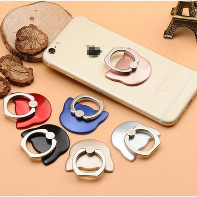 wholesale cute cat metal ring holder for mobile phone 360 degree finger ring stand for all Smart Phone Luxury Couple Models