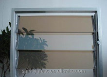 4-6mm rectangular tempered tinted louver glass for window with ISO,CCC